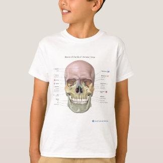Knochen des anatomischen Entwurfs des Schädels T-Shirt