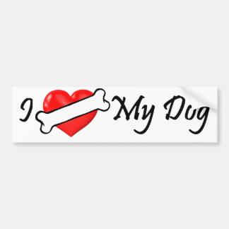 (Knochen) Herz I mein HundeAutoaufkleber Autoaufkleber