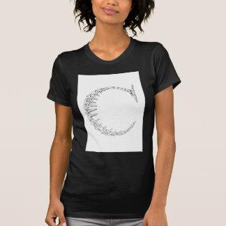 Knochen-Initiale des Buchstabe-C T-Shirt