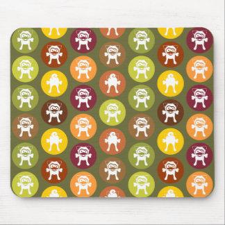Knochen! Kreis-Druck-Herbst-Farben Mousepad