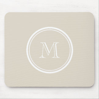 Knochen-obere Grenze farbiges Monogramm Mousepad