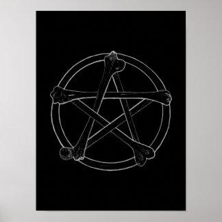 Knochen-Pentagramm Poster