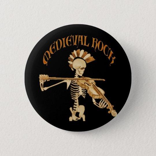 Knochengeiger / Skeleton Fiddler  – Medieval Rock Runder Button 5,1 Cm