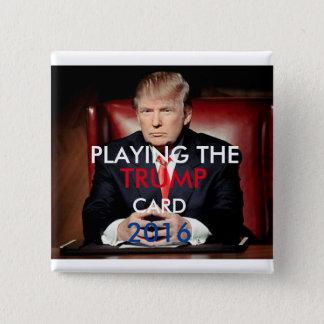 Knopf 2016 Donald Trump Pinback (Quadrat) Quadratischer Button 5,1 Cm