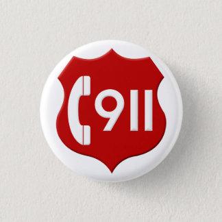 Knopf 911 runder button 2,5 cm