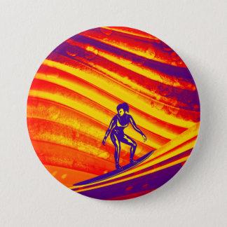 Knopf, abstrakter Sonnenuntergang-Entwurf Runder Button 7,6 Cm