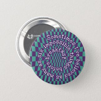 Knopf-Abzeichen der Alice im Wunderland-5.7cm - Runder Button 5,1 Cm