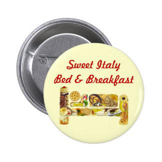 Knopf-Bett u. Frühstücks-fördernde Schablone Anstecknadelbuttons