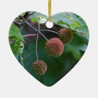 Knopf-Bush-Wildblume-Knospen Keramik Ornament
