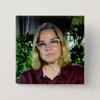 Knopf Carmens Yulín Cruz Quadratischer Button 5,1 Cm