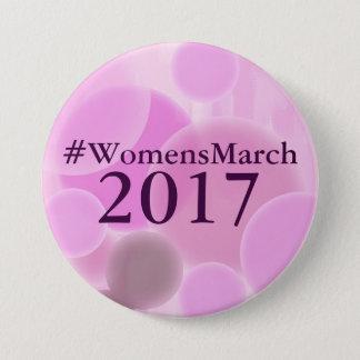 Knopf der Frauen der im März 2017 Runder Button 7,6 Cm