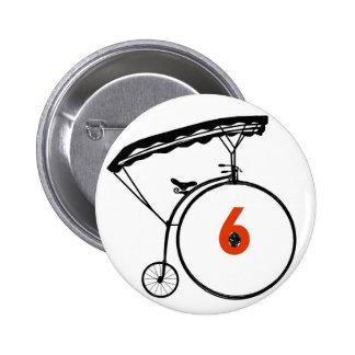 Knopf der Nr.-6 - der Gefangene - Fahrrad Runder Button 5,1 Cm
