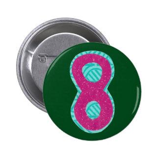 Knopf der Nr.-acht Runder Button 5,1 Cm