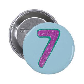 Knopf der Nr.-sieben Runder Button 5,1 Cm
