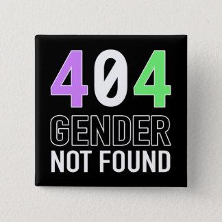 Knopf des Geschlechts-404 Quadratischer Button 5,1 Cm