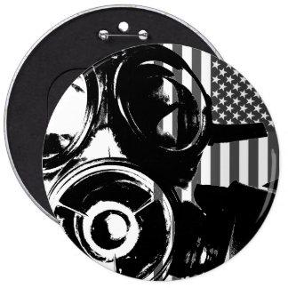 Knopf des GESICHTS-PALME Retro Gasmaske-Entwurfs-2 Runder Button 15,3 Cm