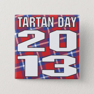 Knopf des Tartan-Tag2013 Quadratischer Button 5,1 Cm