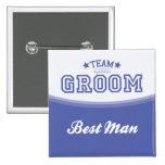 Knopf des Team-Bräutigam-Bester Mann-(Sterne) Anstecknadel