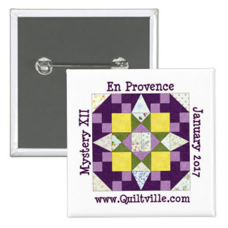 Knopf en Provence Quadratischer Button 5,1 Cm