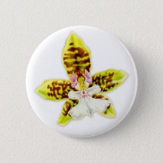 Knopf feine Kunst der Orchideen-Blume Runder Button 5,7 Cm