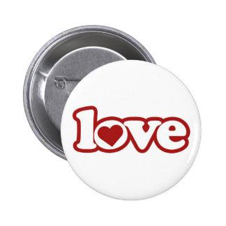 Knopf-Flair, niedlicher Retro Liebe-Entwurf, rotes Runder Button 5,7 Cm