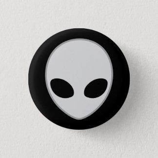 Knopf Kopf von Alien - M1 Runder Button 3,2 Cm