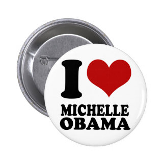 Knopf Liebe I Michelle Obama Runder Button 5,7 Cm