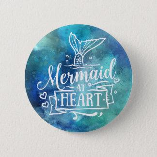 Knopf - Meerjungfrau am Herzen Runder Button 5,7 Cm