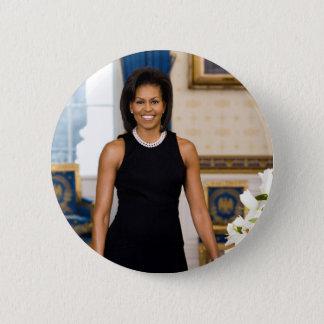 Knopf Michelle Obama Runder Button 5,7 Cm