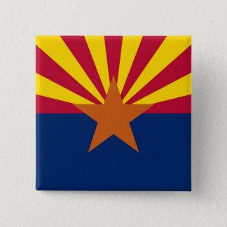 Knopf mit Flagge von Arizona Quadratischer Button 5,1 Cm