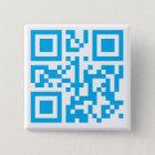 Knopf mit kundenspezifischem QR Code Quadratischer Button 5,1 Cm