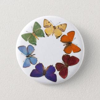 Knopf mit Schmetterlingsring Runder Button 5,7 Cm
