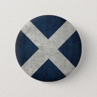 Knopf mit schmutziger Flagge von Schottland Runder Button 5,1 Cm