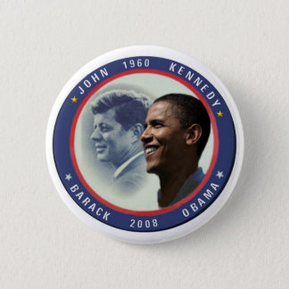 Knopf Obama JFK Runder Button 5,1 Cm