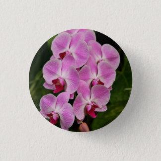 Knopf - Orchidee Runder Button 2,5 Cm