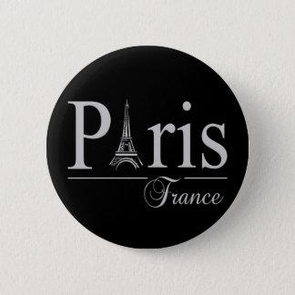Knopf Paris Frankreich Runder Button 5,7 Cm