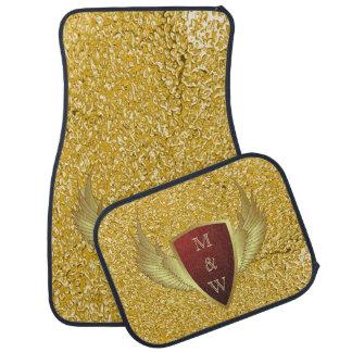 Knopf RETRO GOLD WINGS II + Ihr Monogramm Automatte