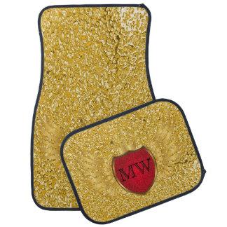 Knopf RETRO GOLDflügel + Ihr Monogramm Automatte
