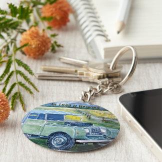 Knopf-Schlüsselring mit Land Rover-Druck Standard Runder Schlüsselanhänger