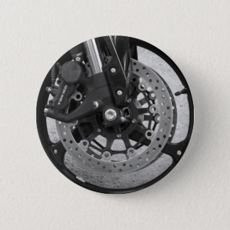 Knopf-schwarzes u. weißes Rad Runder Button 5,1 Cm