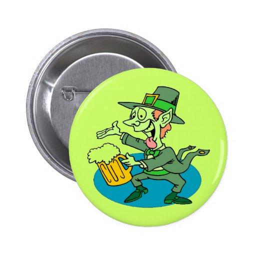 Knopf St. Patricks Tages Runder Button 5,1 Cm