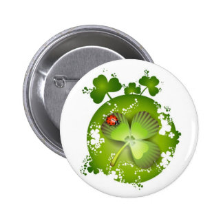 Knopf St. Patricks Tages Runder Button 5,7 Cm