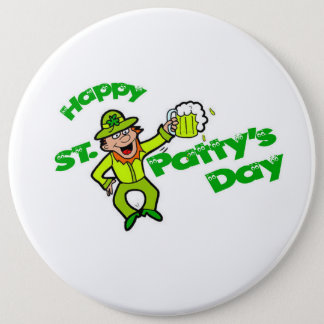 Knopf St. Pattys Tages Runder Button 15,3 Cm