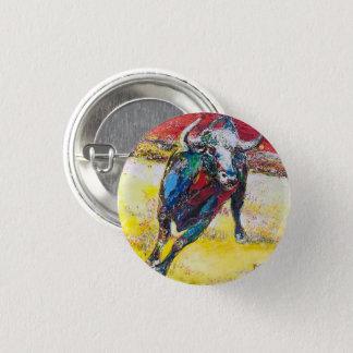 Knopf Stier Runder Button 3,2 Cm