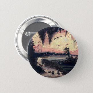 Knopf - Welt in meinen Augen durch micgurro Runder Button 5,1 Cm