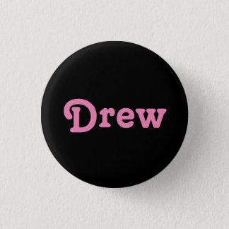Knopf zeichnete runder button 3,2 cm