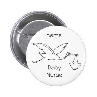 Knopfbaby Krankenschwester, Baby, Babykrankenschwe Runder Button 5,7 Cm