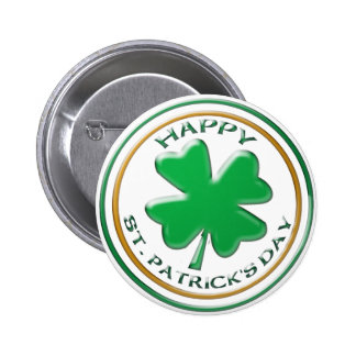 Knöpfe St. Patricks Tages Runder Button 5,1 Cm