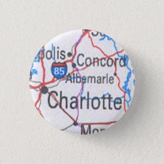 Knöpfen Sie mit Karte von Charlotte/von Runder Button 2,5 Cm