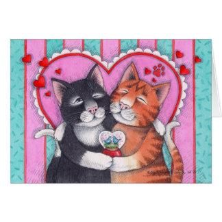 Knospe u. Valentinsgruß Notecard Tonys #73 Karte
